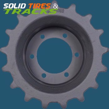 Aftermarket JCB 180T, 190T, 1110T Sprocket 33120150 - Heavy Duty 6 Bolt Holes, 17 Teeth