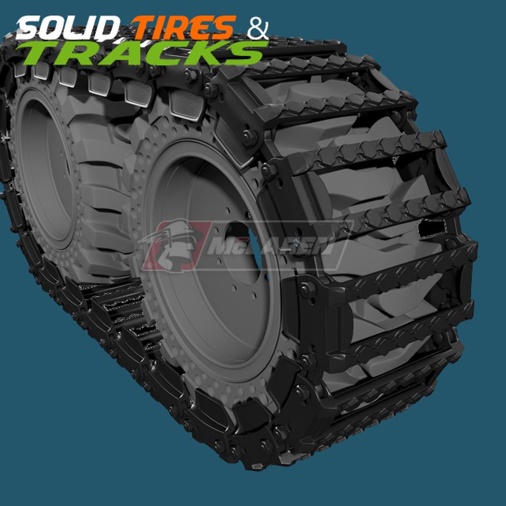 Skid Steer Ott Tracks Over The Tire Tracks Steel Metal For